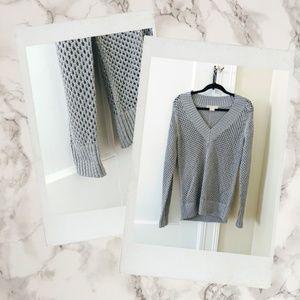 Michael Kors ▪ Metallic Open Knit Pullover Sweater